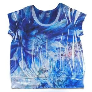 Lane Bryant Blue Embellished T-shirt 26 / 28